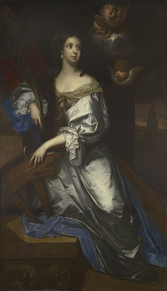 Jacob_Huysmans_-_Queen_Catherine_of_Braganza_as_Saint_Catherine_of_Alexandria