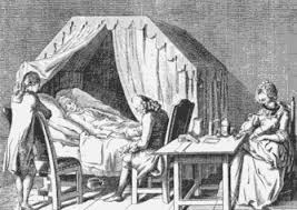 17th century sickbed