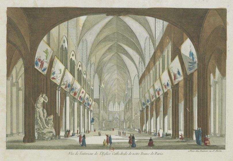 Interior of Notre Dame 1670
