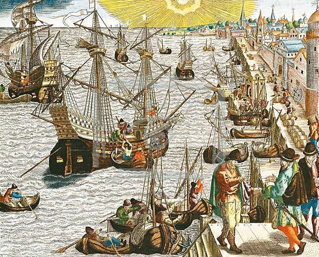 Departure_of_fleet_from_Lisbon_harbor