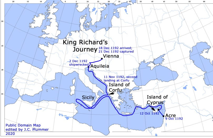 King Richard's Journey 1192